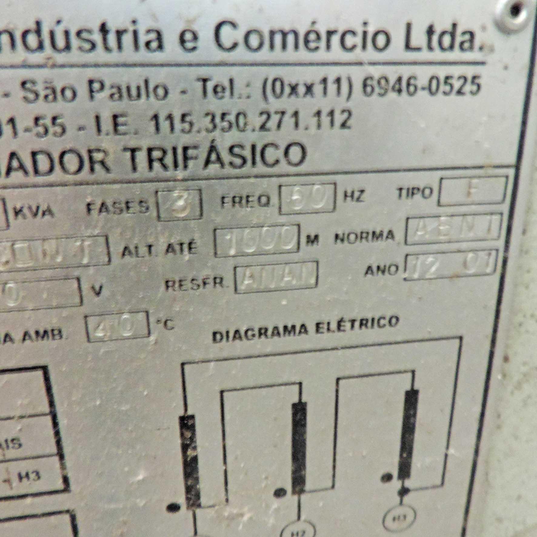 Auto Trafo 27 Kwa 380/440 V Transformador - SP118 Usado