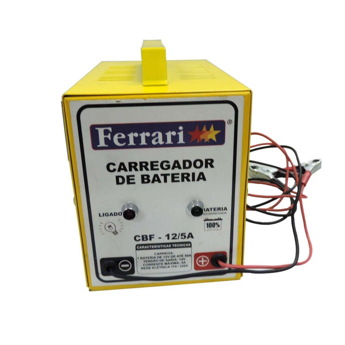 Carregador De Bateria Cbf12-5a - 5 Amperes - Ferrari