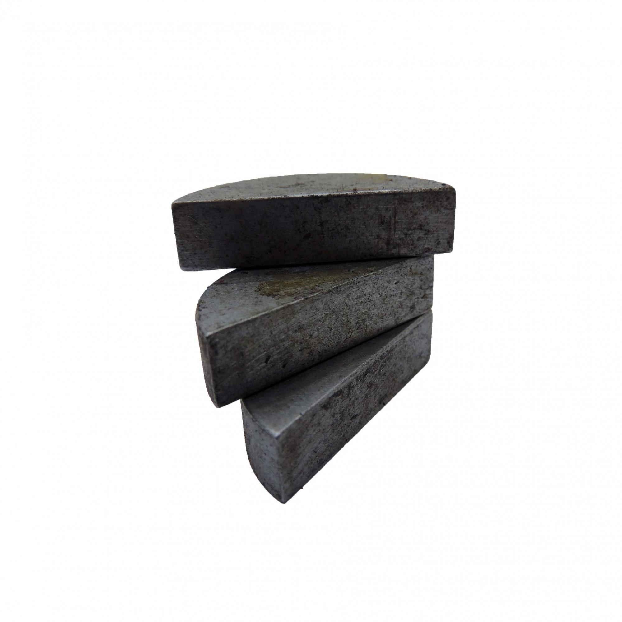 Chaveta Barra Meia Lua Em Aço 1045 Cva13 - Usada