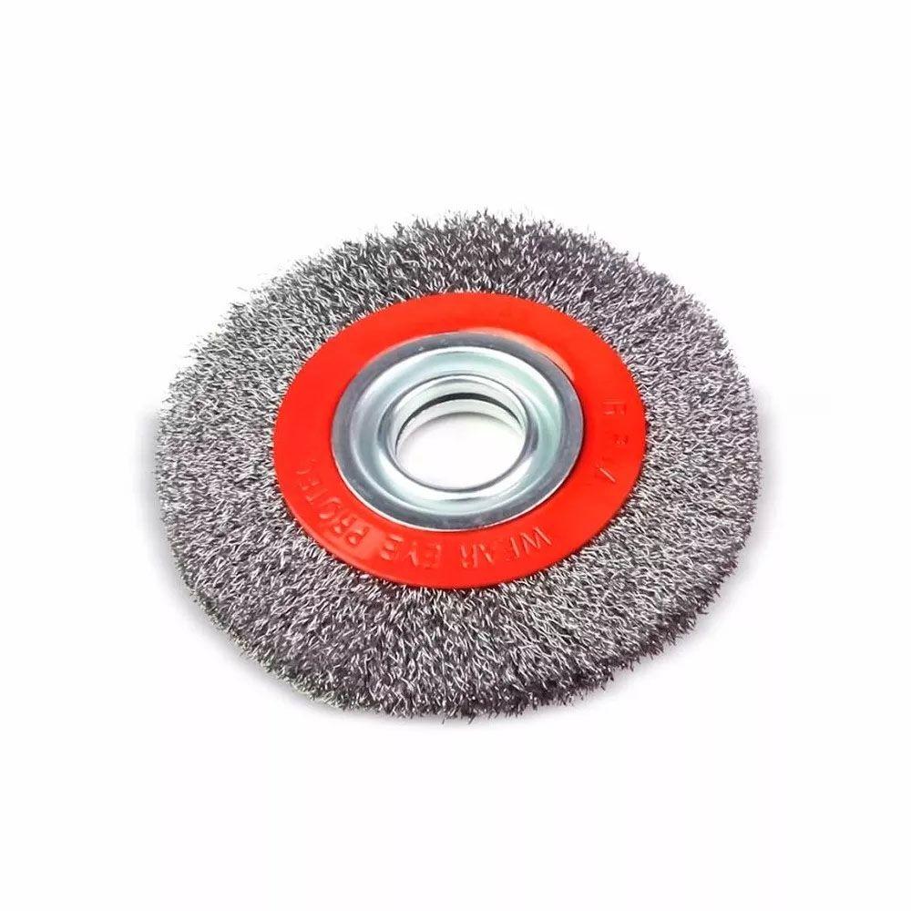 "Escova De Aço Circular 6"" x 1/2"" Rocast - Nova"