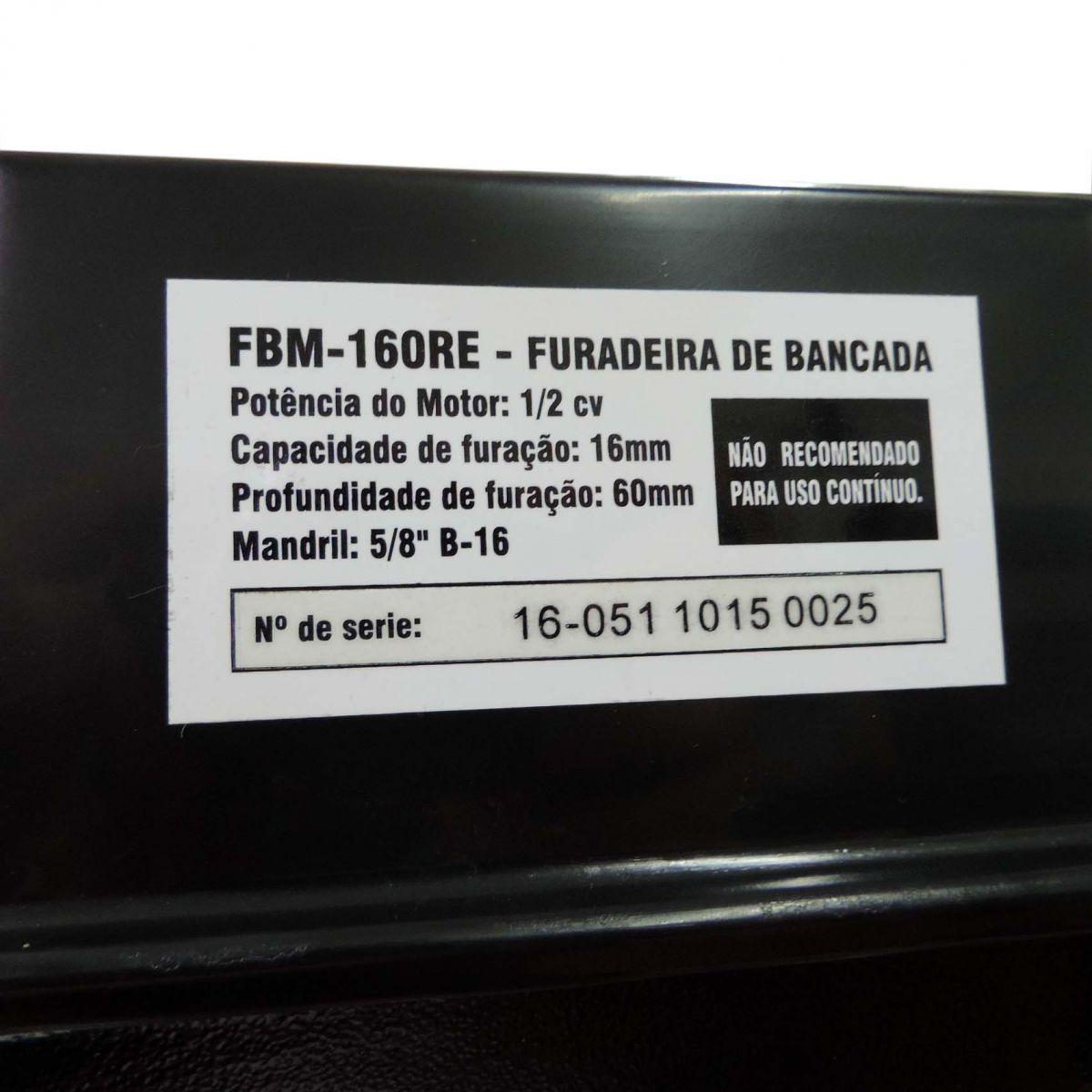 Furadeira De Bancada 1/2hp-fbm-160re Eletrônica - Motomil
