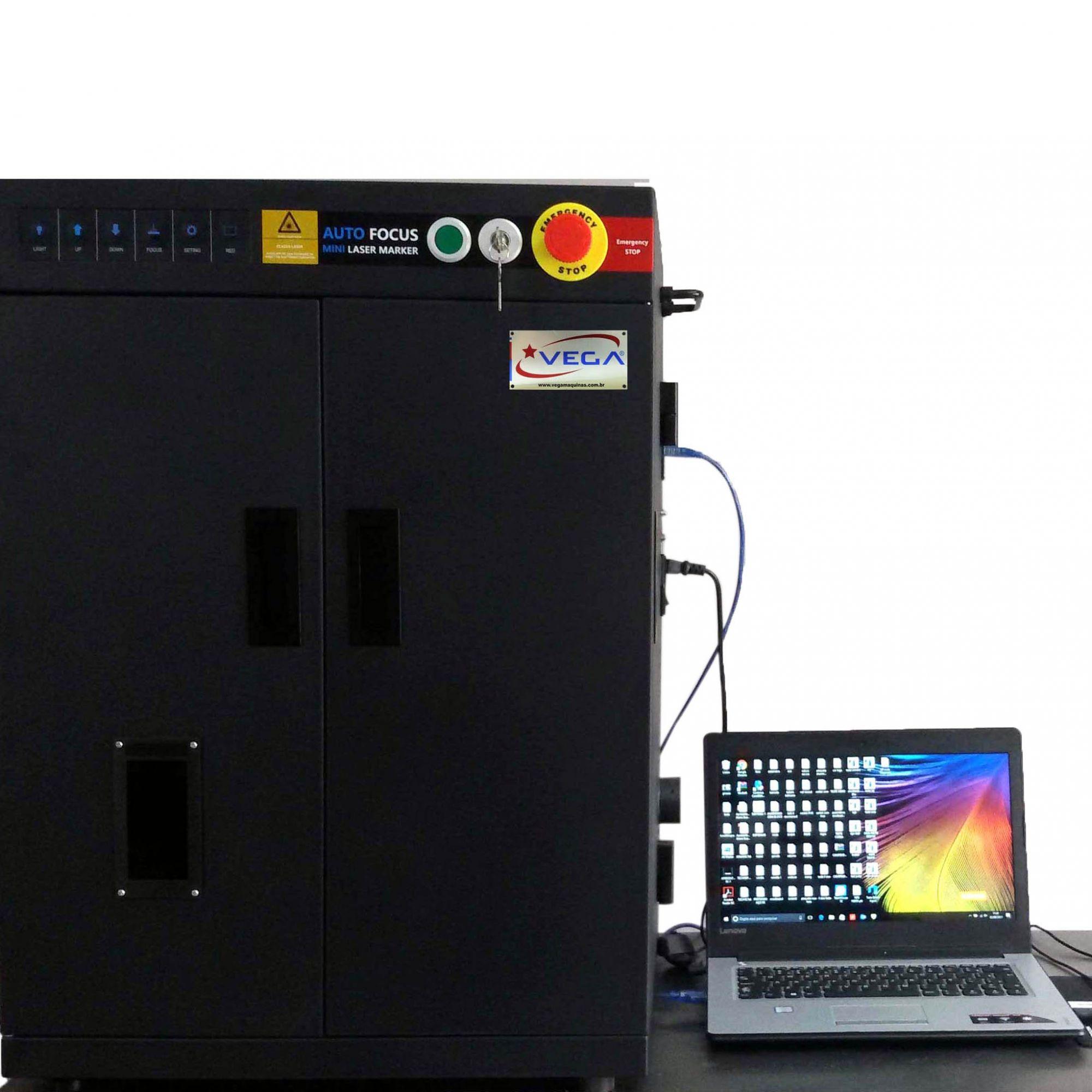 Gravadora Laser 2D E 3D 20W Com Cabine Mopa Cd58