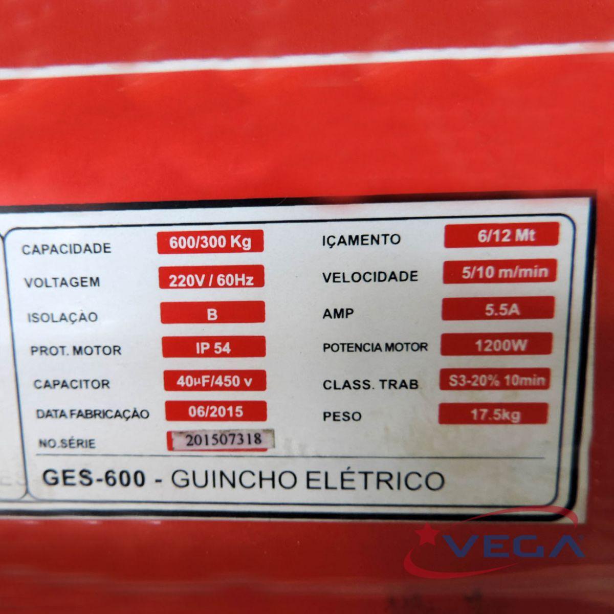 Guincho Elétrico – Linha Mini Ges-600