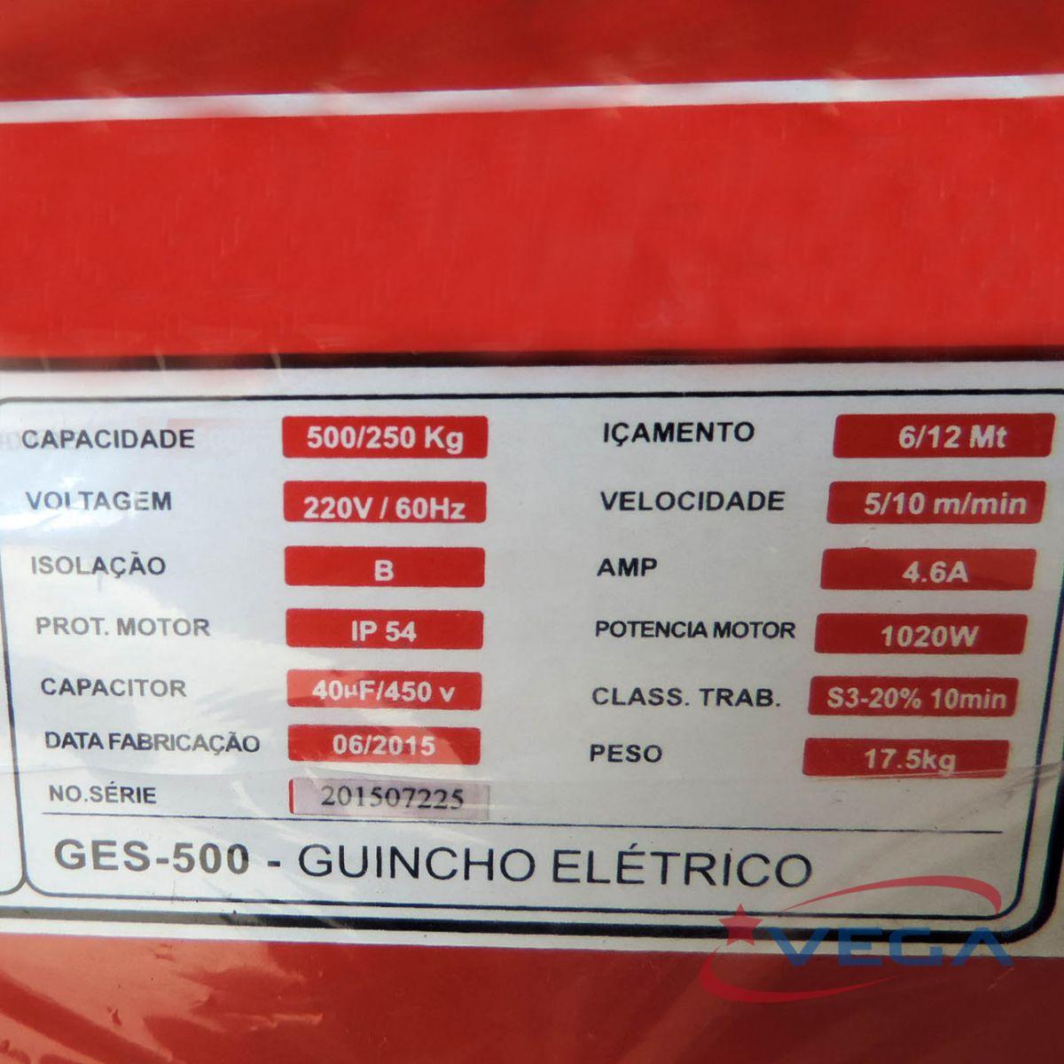 Guincho Elétrico – Linha Mini Ges-500