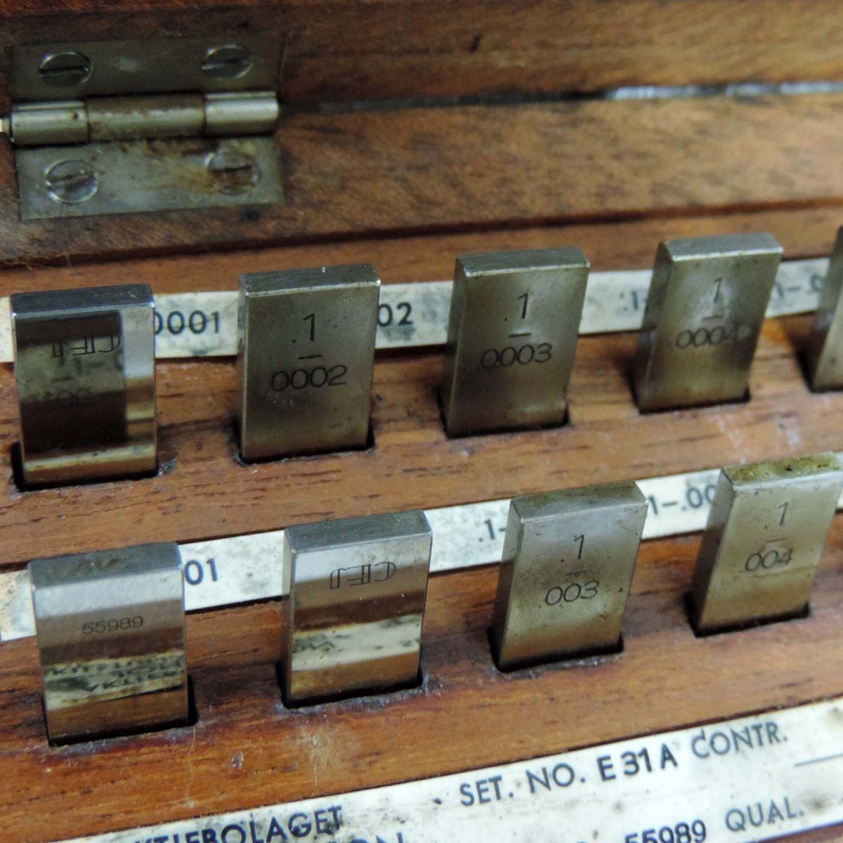 Jogo De Blocos Padrão De Aço 18 Pçs  C. E. Johansson Bc5