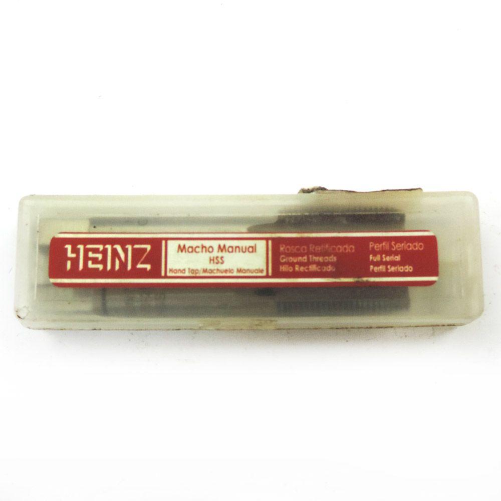 """Jogo De Macho Manual Heinz HSS G 1/8"""" x 28 BSP Com 2 Peças MRH-075"""