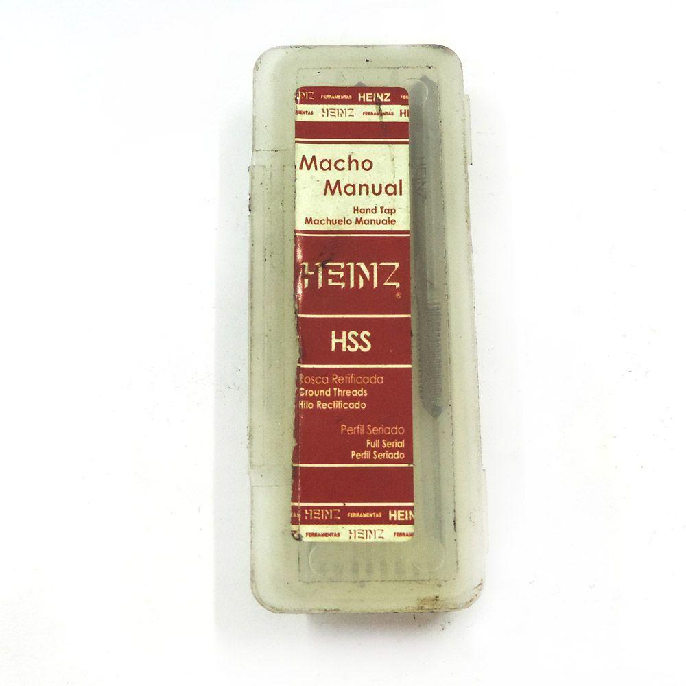 Jogo De Macho Manual Heinz HSS M4 x 0.7 Com 3 Peças MRH-047