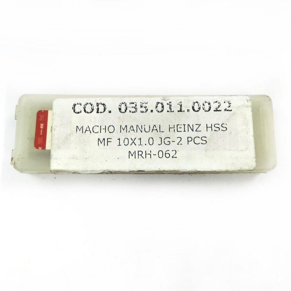 Jogo De Macho Manual Heinz HSS MF10 x 1.0 Com 2 Peças MRH-062