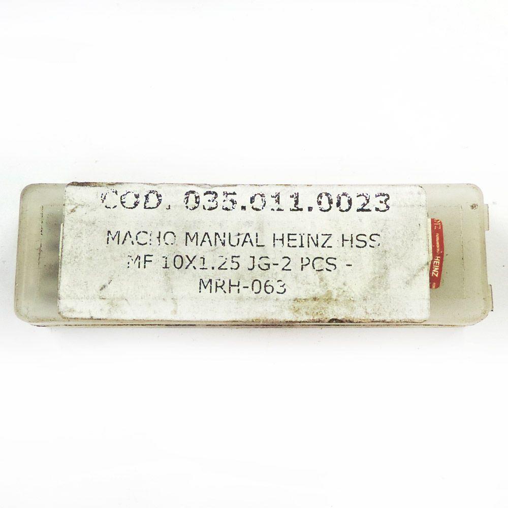 Jogo De Macho Manual Heinz HSS MF10 x 1.25 Com 2 Peças MRH-063