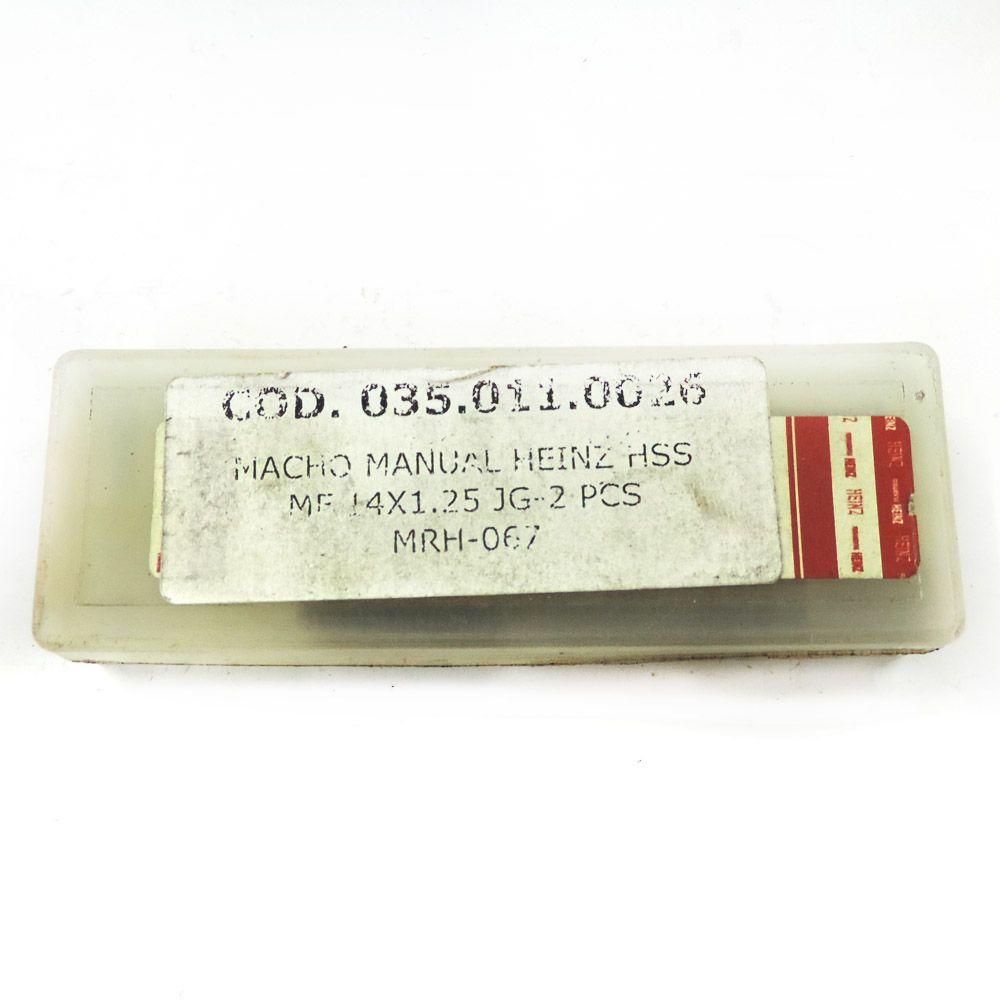 Jogo De Macho Manual Heinz HSS MF14 x 1.25 Com 2 Peças MRH-067