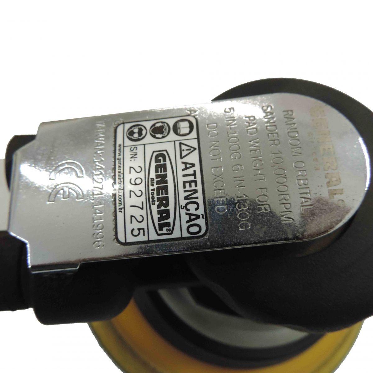 Lixadeira Rokit Orbital Pneumatica General Gtl934n6 U-42