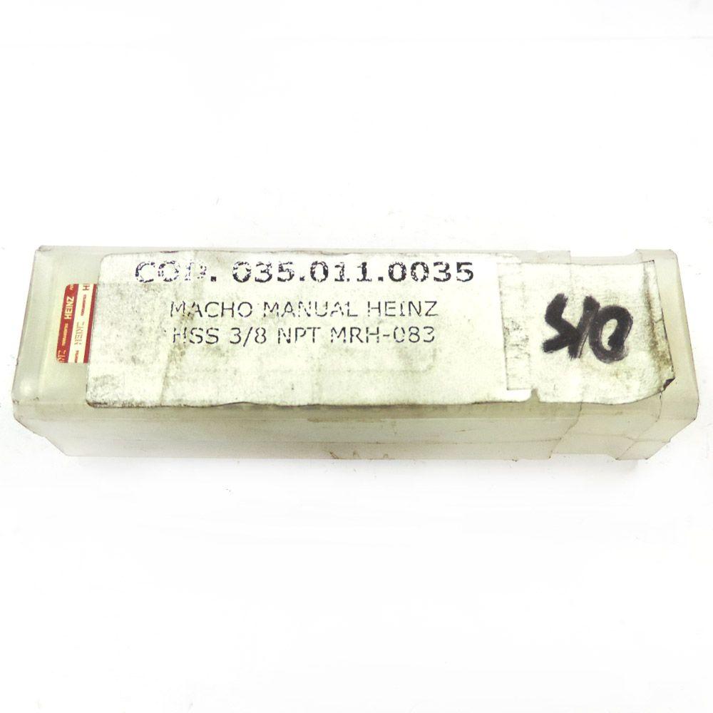 "Macho Manual Heinz HSS 3/8"" x 18 NPT Unitário MRH-083"