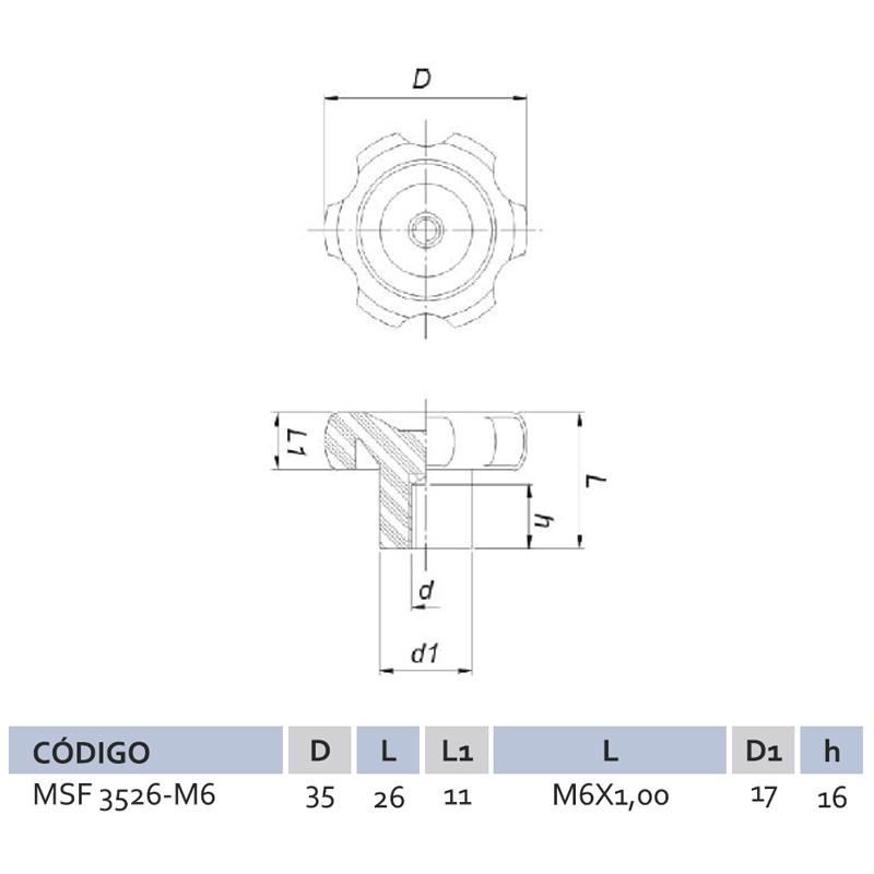 Manípulo Standard Fêmea MSF 3526 M6