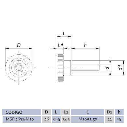 Manípulo Standard Fêmea MSF 4631 M10