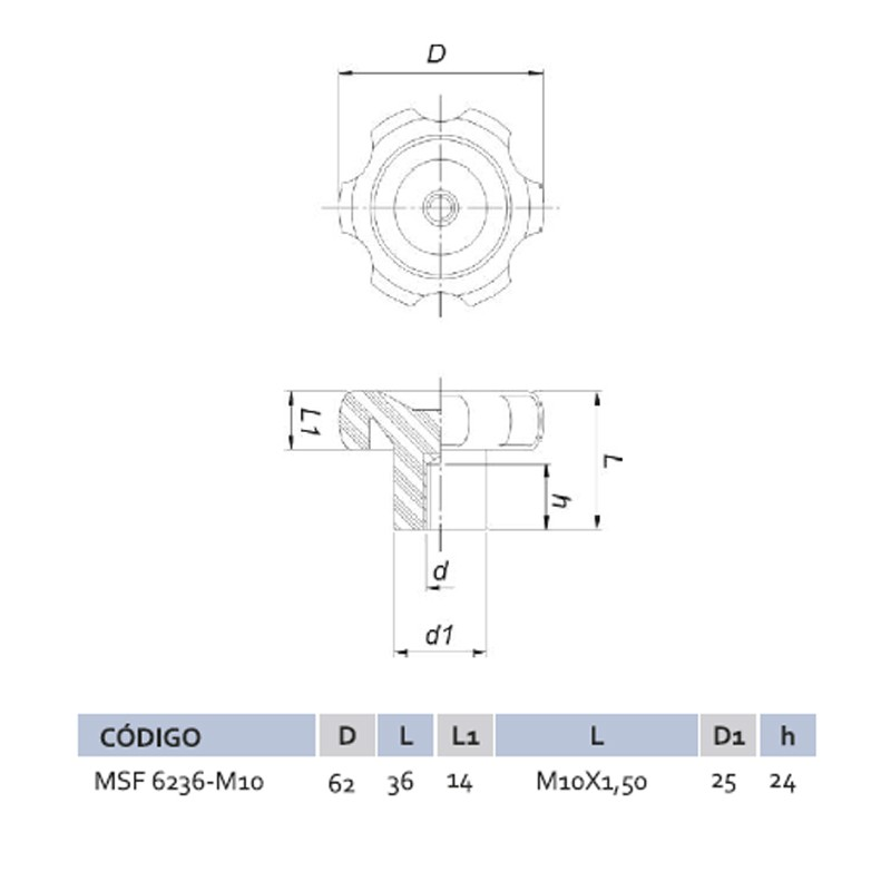 Manípulo Standard Fêmea MSF 6236 M10