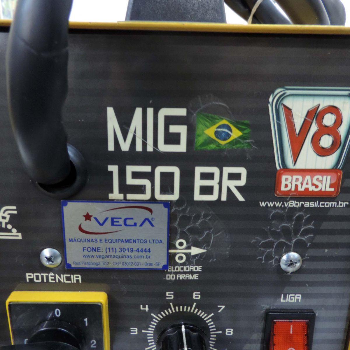 Máquina De Solda Mig 150 BR-220 V-60Hz-V8 Brasil
