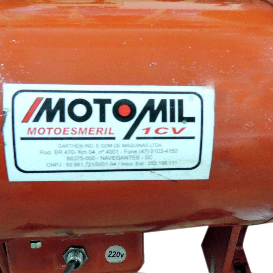 Moto Esmeril 100 Mm 1Hp 220v 60Hz Motomil