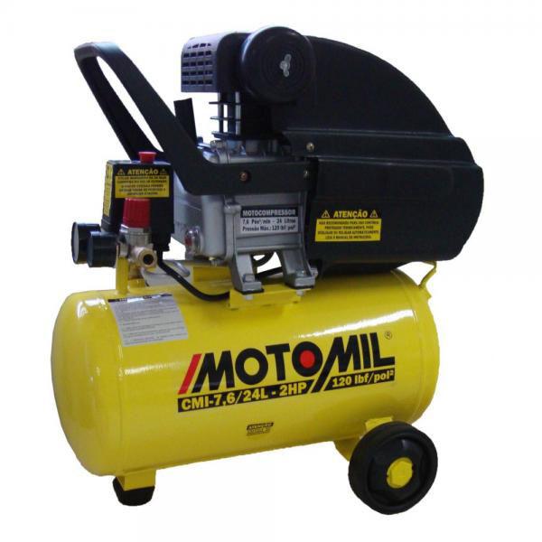 CMI-7,6/24 MOTOCOMPRESSOR 2HP 120LB MONO 220V - MOTOMIL