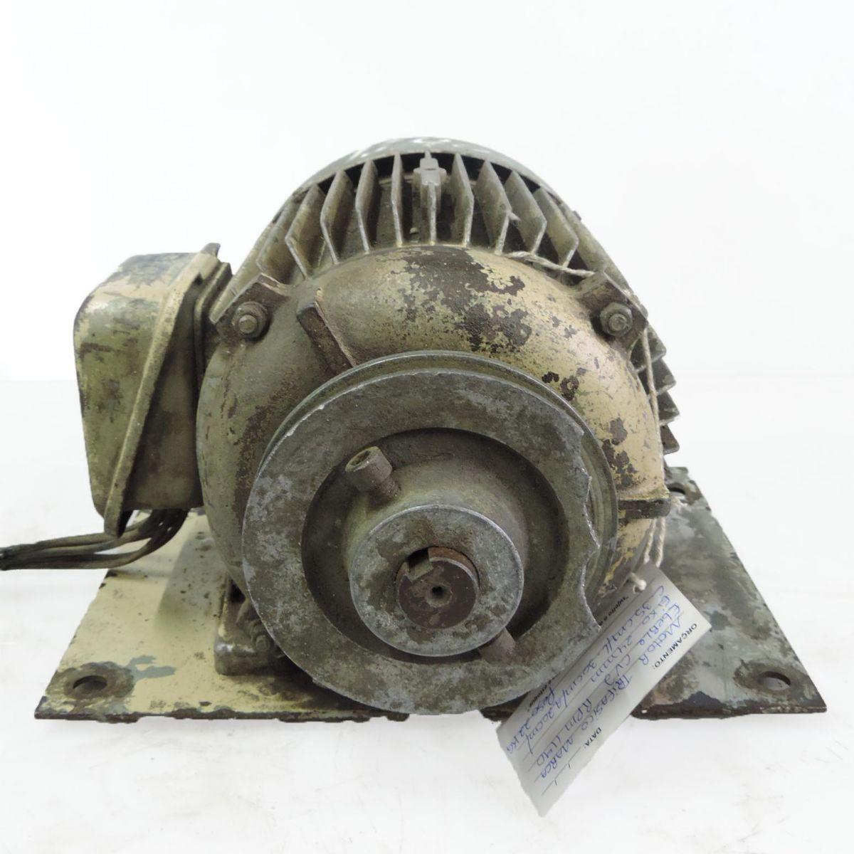 Motor Trifásico Marca Eberle F37 - 2 CV 1140 RPM