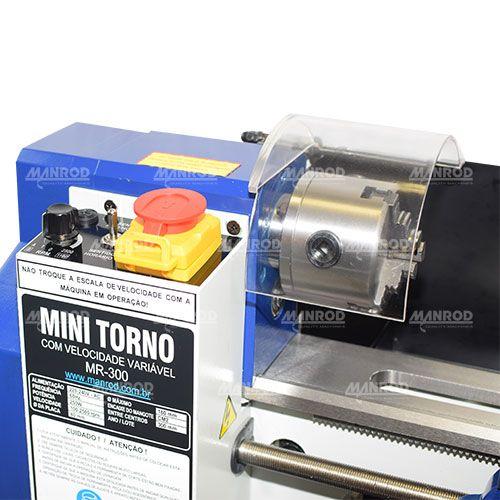 007 Mini Torno Mr-300 180x300mm 220v 60Hz 1Ph 250w