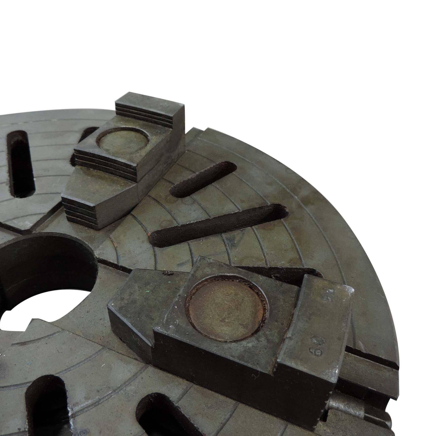 Placa Torno 4 Castanhas Reversíveis 370mm Usada Sc418