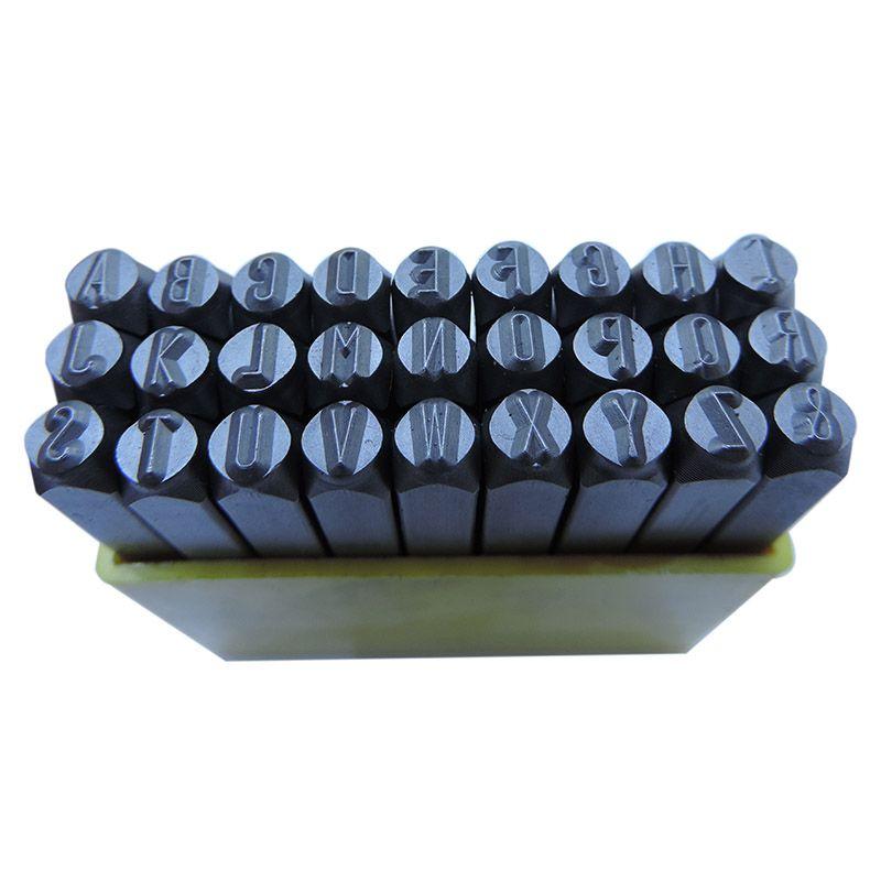 Punção Alfabética 4.00mm – Jogo Com 27 Peças