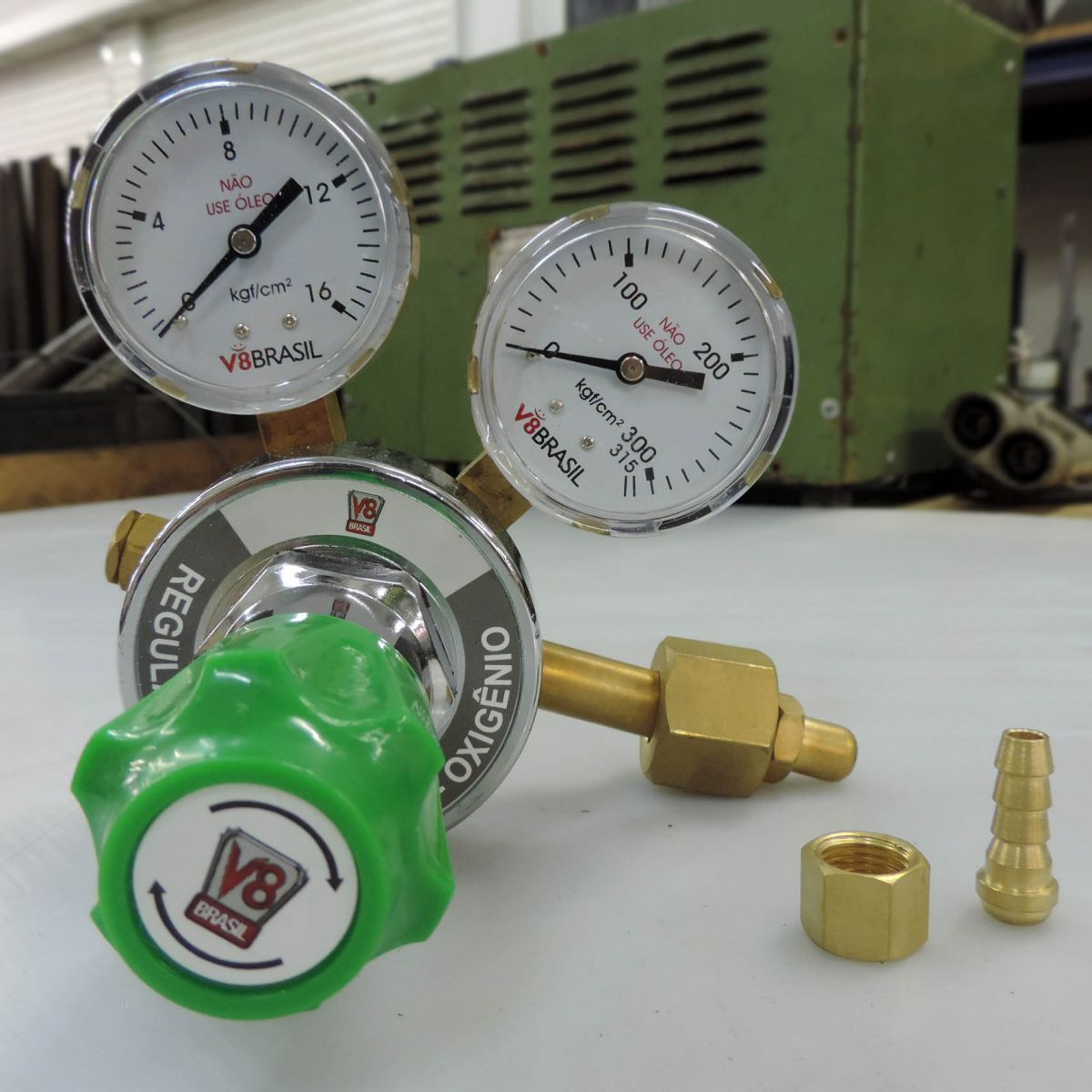 Regulador De Pressão Para Gás Oxigênio V8-ox-10 V8 Brasil