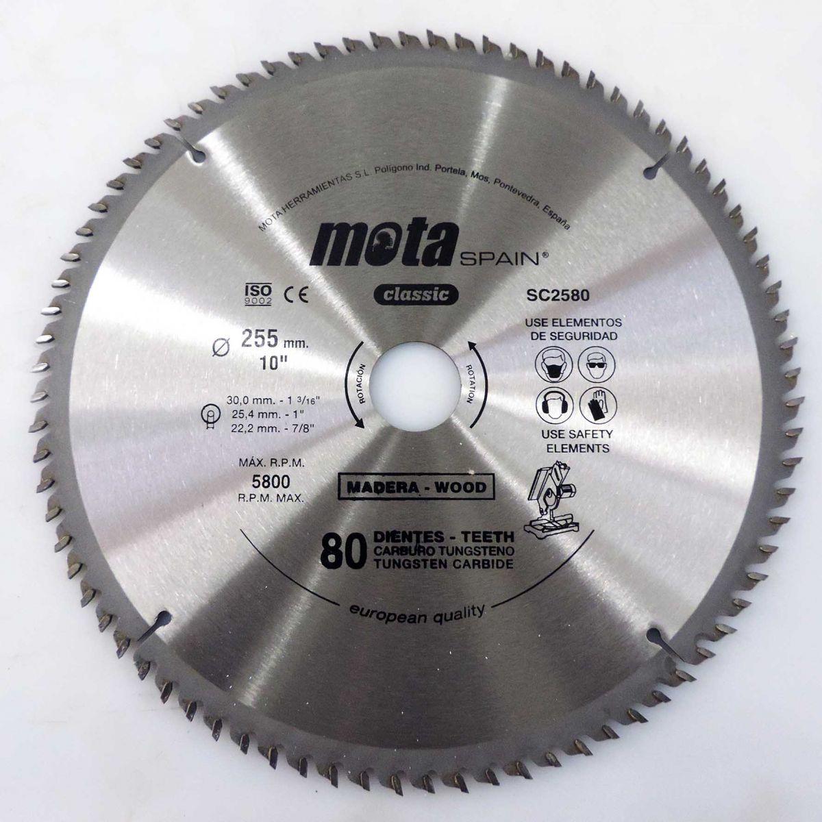 Serra Circular Para Madeira 255mm - Marca Mota - U83