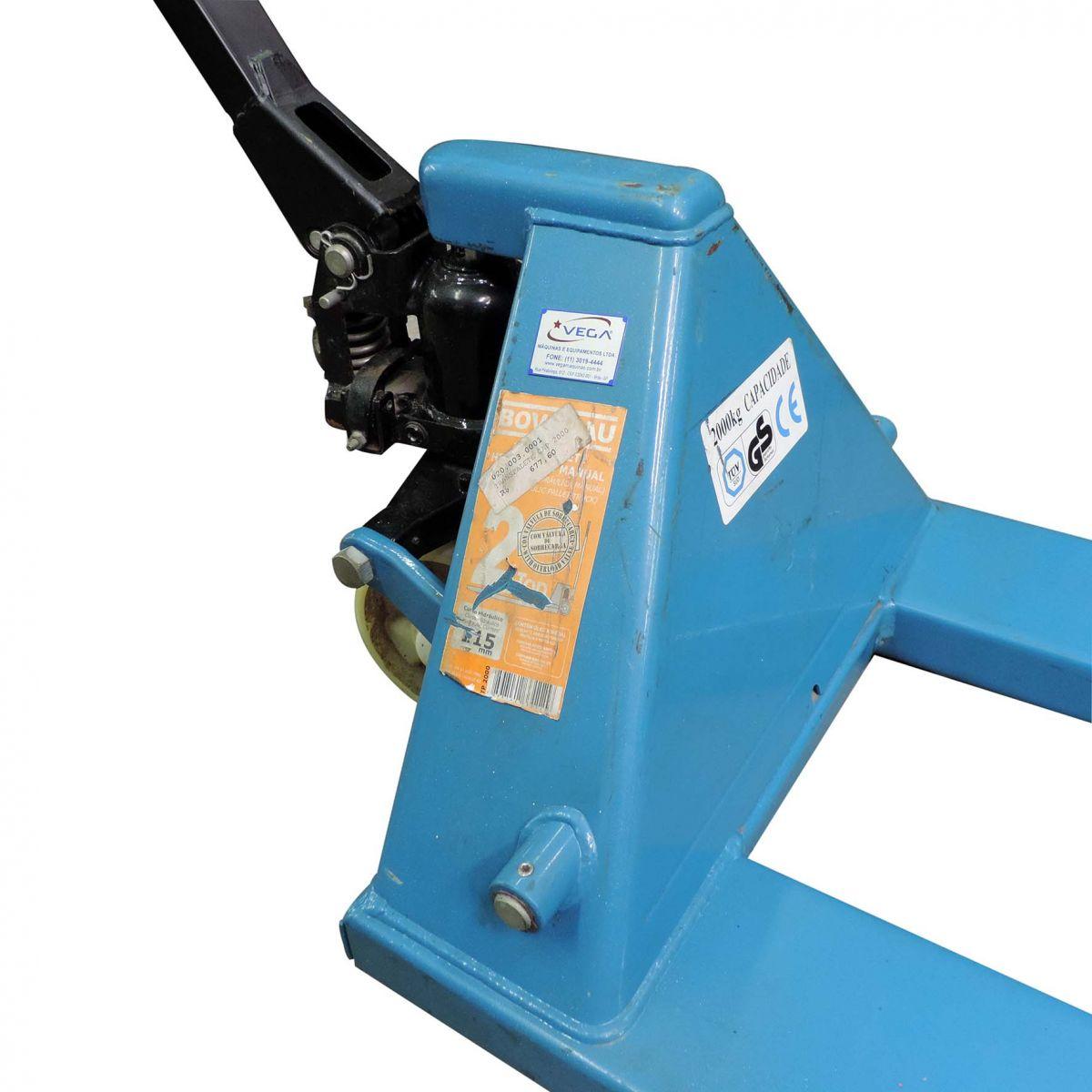 Paleteira Manual Hidráulica Bovenau 550 X 1150 Mm