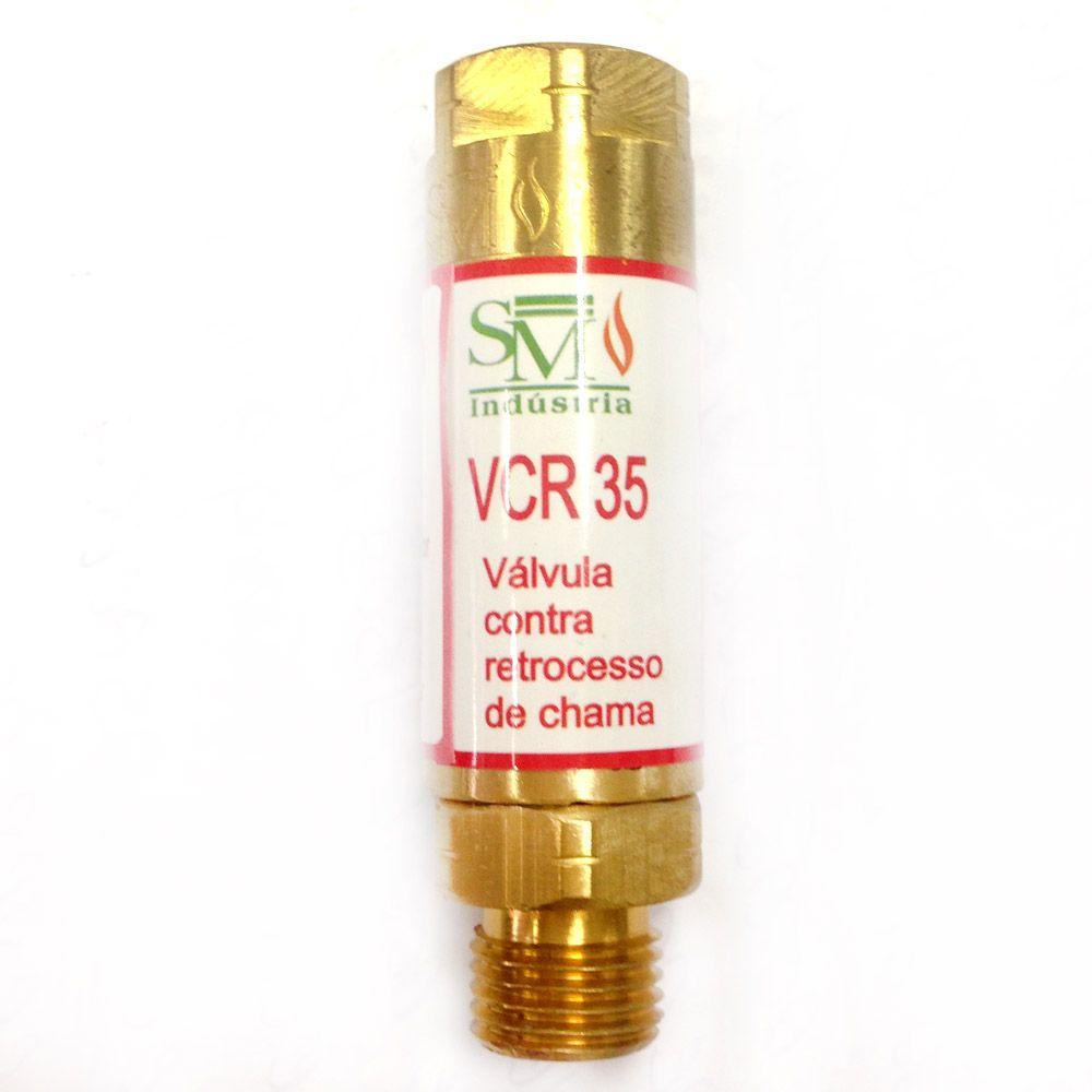 Válvula Contra Retrocesso de Chama Acetileno VCR-35 - SM Indústria