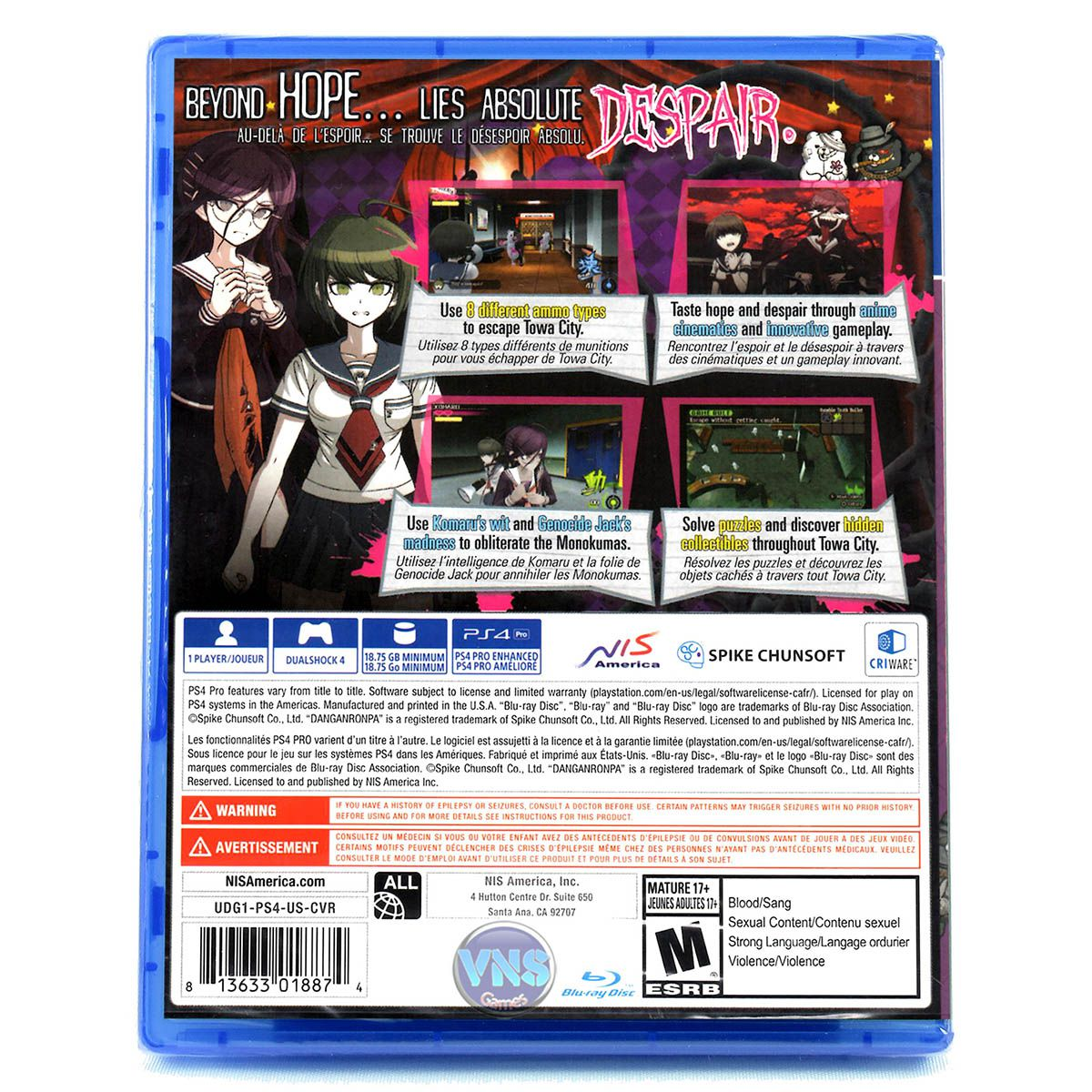 Danganronpa Another Episode Ultra Despair Girls - PS4