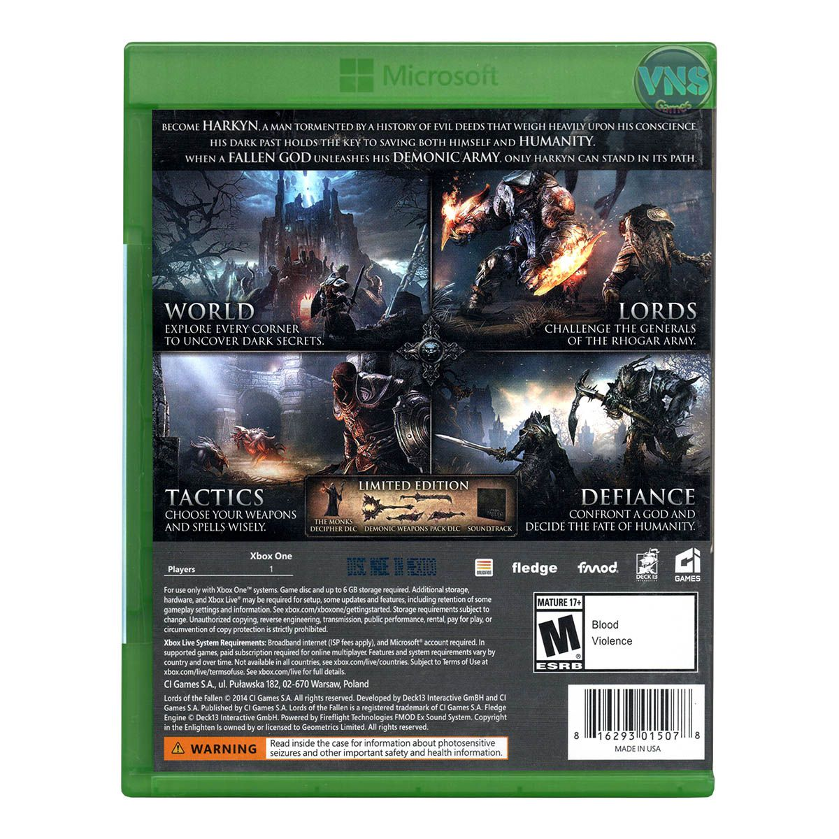 Lords of The Fallen Limited Edition - Xbox One