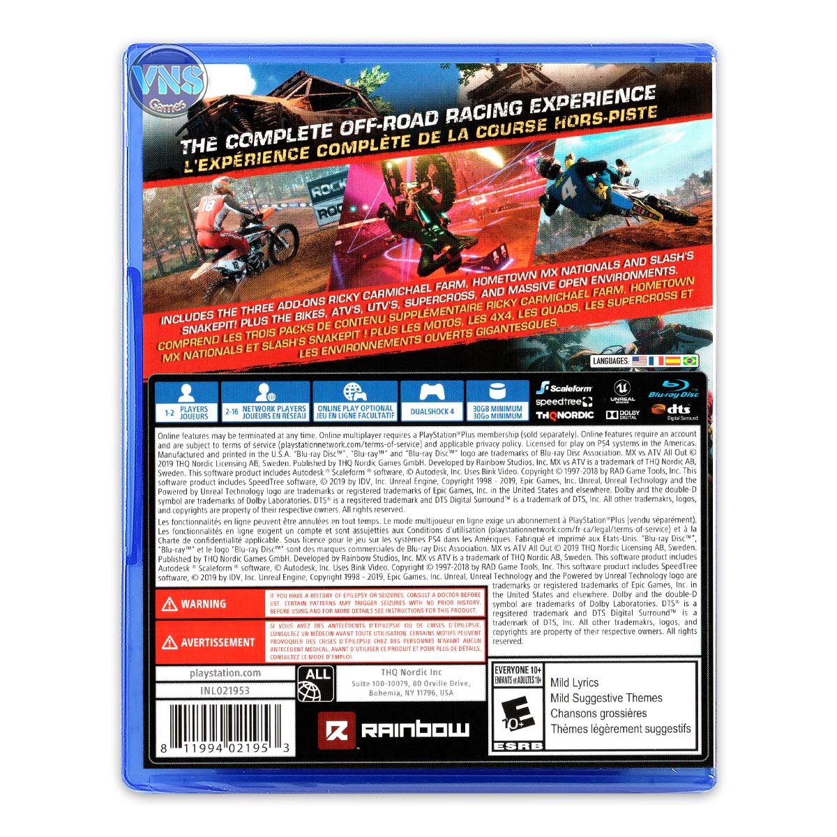 Mx Vs ATV All Out: Anniversary Edition - PS4