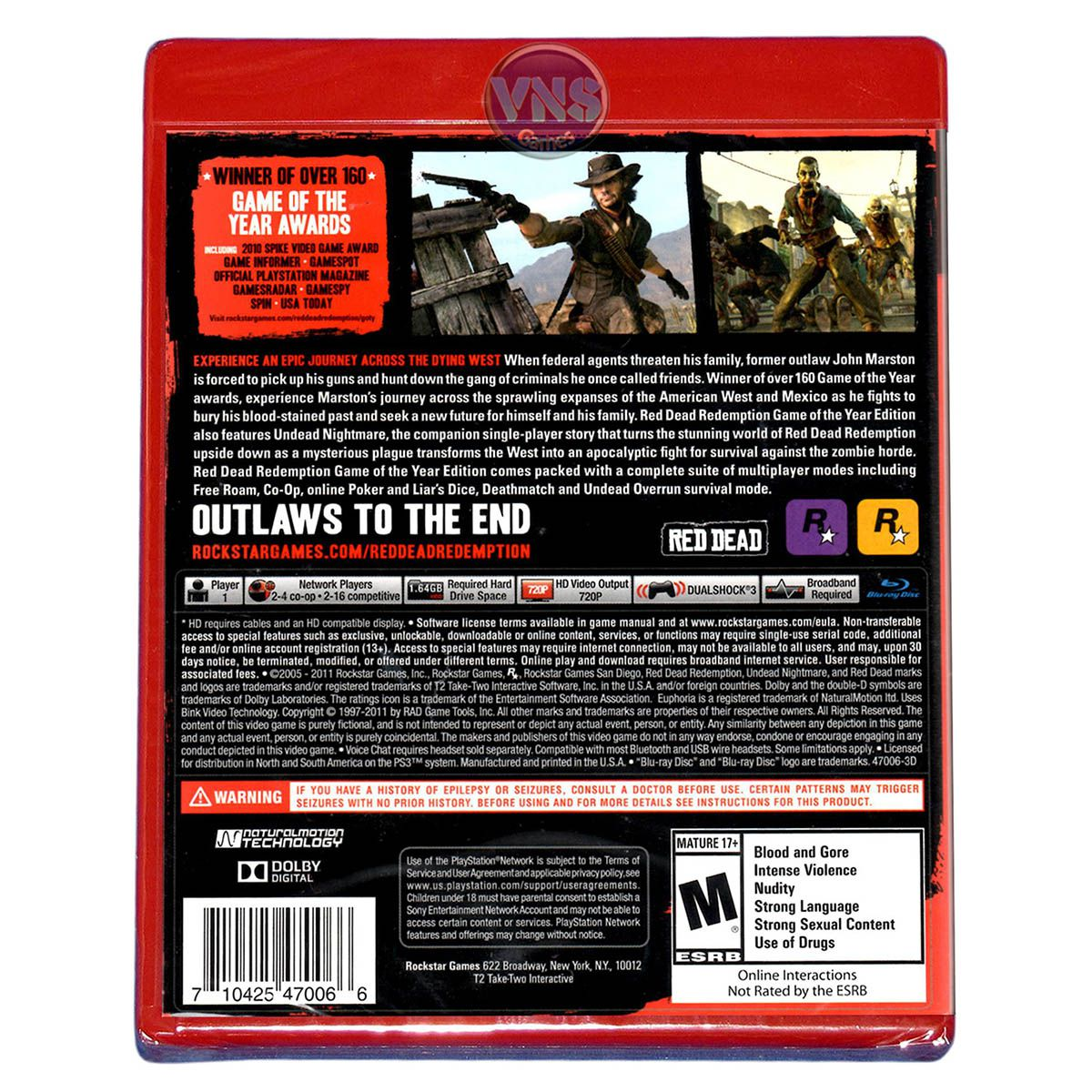 Red Dead Redemption Game of The Year Edition - PS3