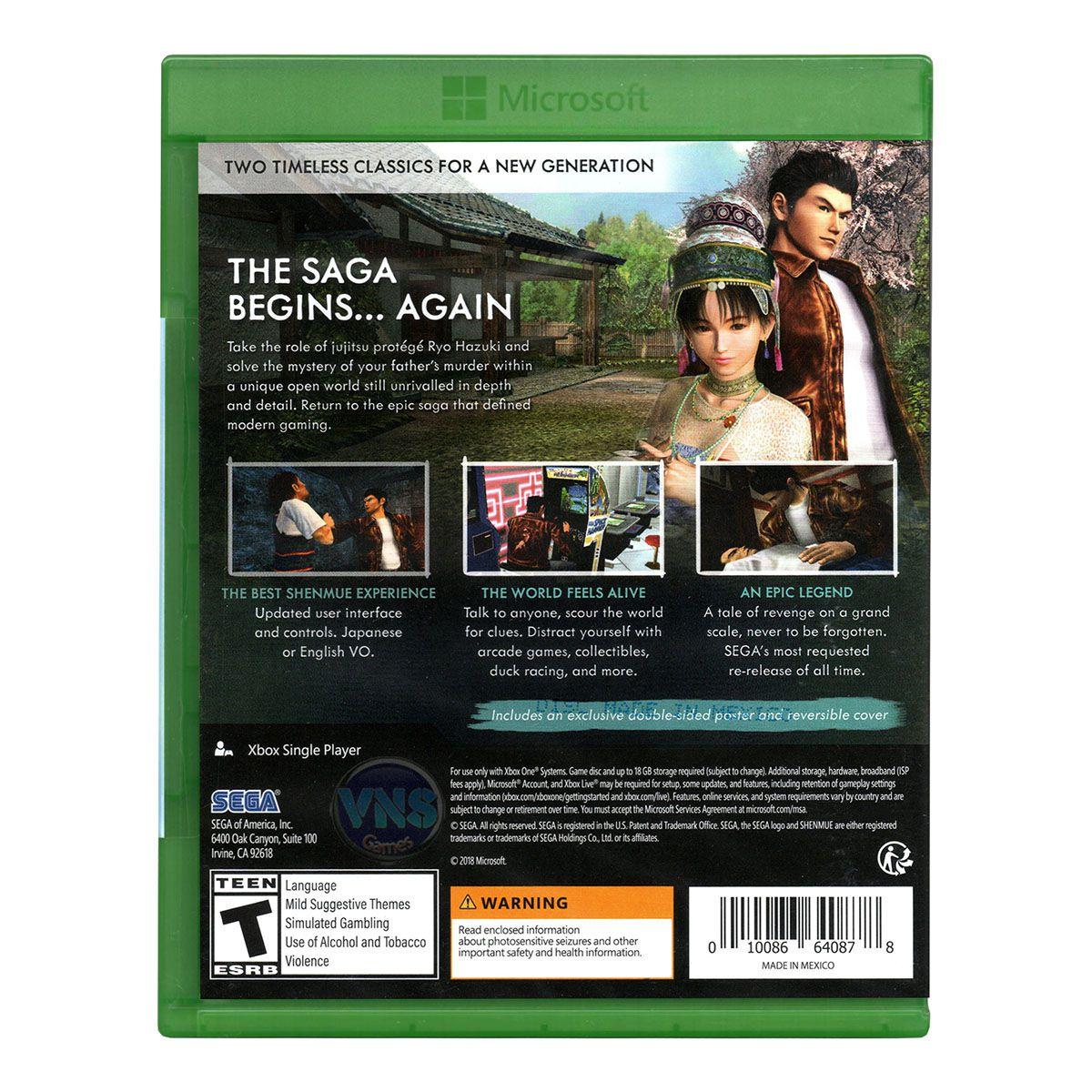 Shenmue I & II - Xbox One