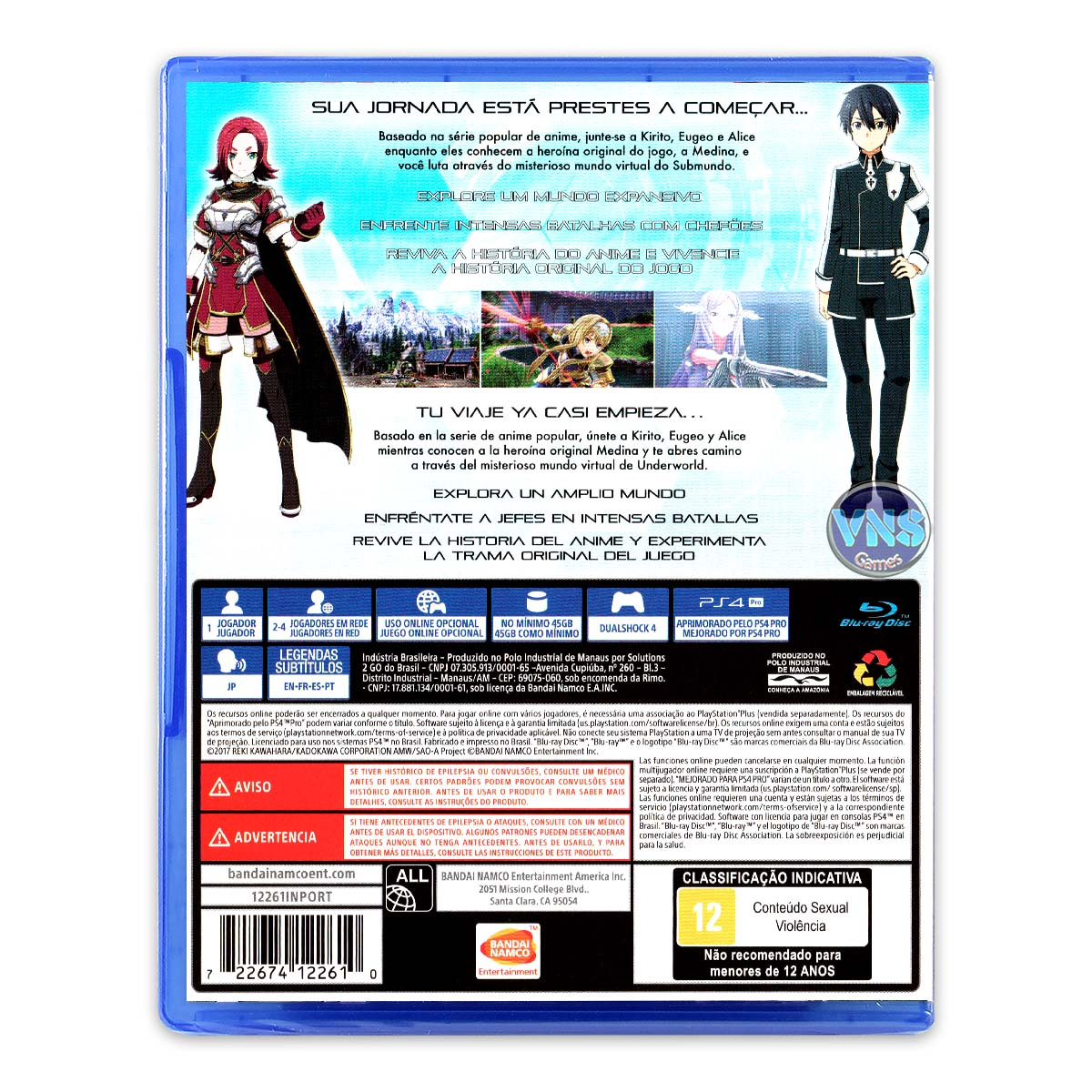 Sword Art Online Alicization Lycoris - PS4