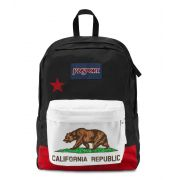 MOCHILA JANSPORT SUPERBREAK - RED NEW CALIFORNIA REPUBLIC