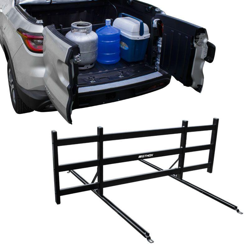 Divisor de Carga para Caçamba para Fiat Toro em Aluminio Preto Gtnox