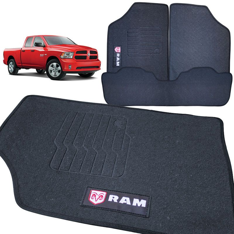 Jogo de Tapete Dodge Ram 1981 a 2014 Ecotap em PVC