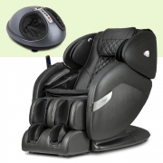 Poltrona de Massagem Fênix Preta + Massageador EaseFoot