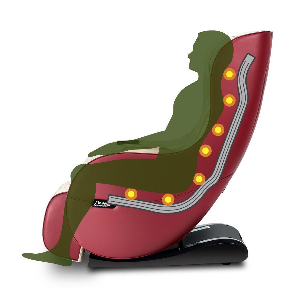 Poltrona de Massagem Next - Cor Vermelha  - Massage Express