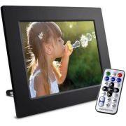 Porta Retrato Digital Tela 12 Lcd Controle Usb Pendrive Sd
