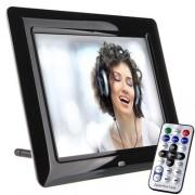 Porta Retrato Digital Tela 8 Lcd Controle Usb Pen Drive Sd Card