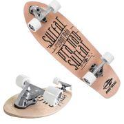 Skate Longboard Carver Simulador Surf Abec 5 Marfim Mormaii