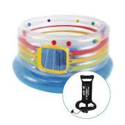 Pula Pula Inflável Multicolorido Intex Trampolim Com Bomba