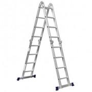 Escada Multifuncional 4x4 16 Degraus com Plataforma em Aço - MOR