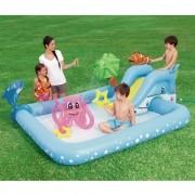 Piscina Inflável playcenter Aquário com Escorregador Bestway