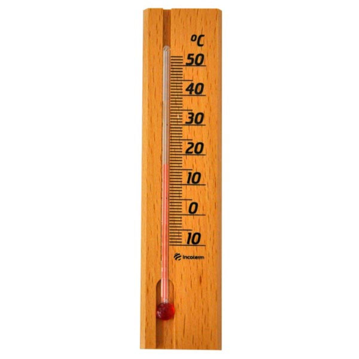 Termometro Ambiente base de madeira Incoterm  - Agrodove