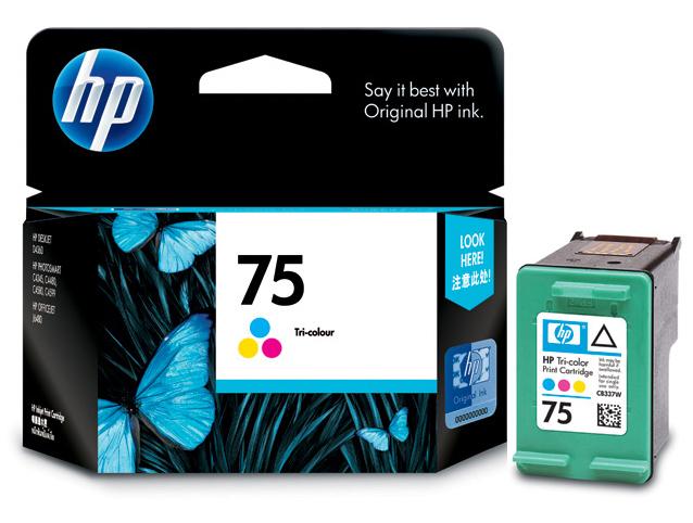 Cartucho HP 75 Colorido Tricolor CB337WB - HP C4210 C4240 C4250