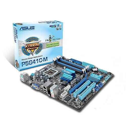 Placa Mãe Asus P5G41C-M LX 775 DDR2/DDR3